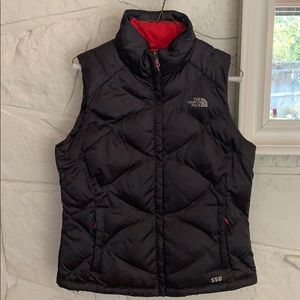 The North Face Goose Down 550 charcoal vest Med